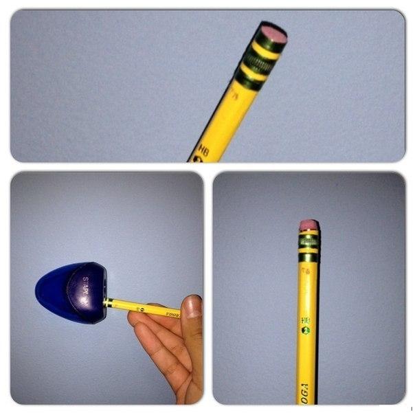 Когда ластик на карандаше стерся 0