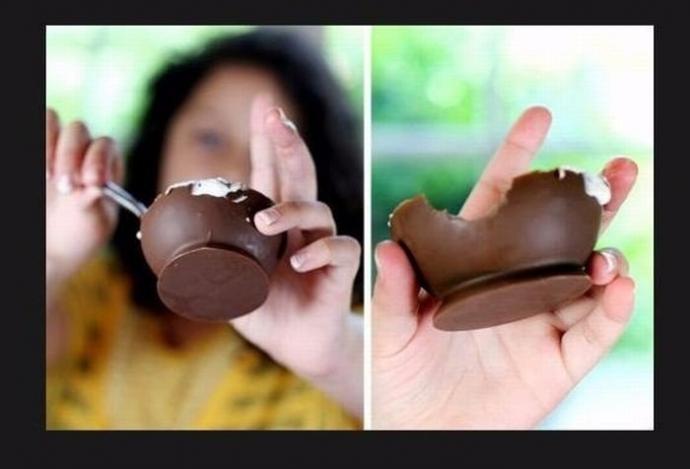 Шоколадные стаканчики 6