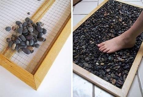 Идея для коврика в ванную - отличная профилактика плоскостопия и массаж 0