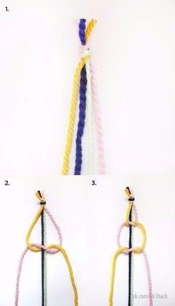 Занавеска из веревки в технике макраме. 4
