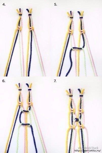 Занавеска из веревки в технике макраме. 5