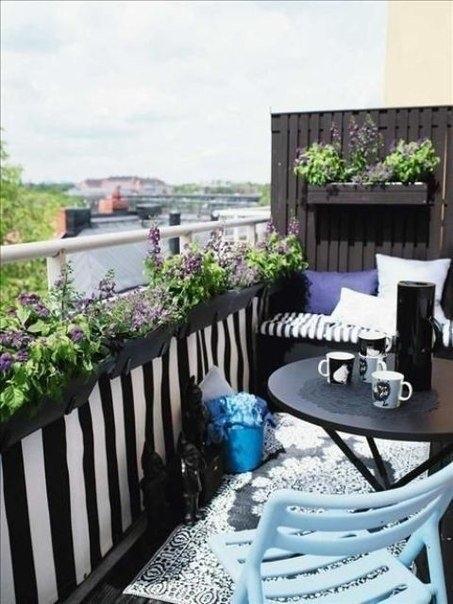 Подборка прекрасных идей для небольших балконов 0