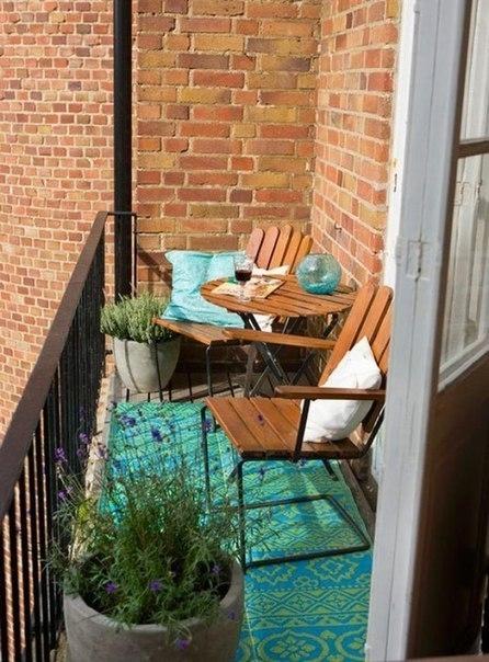 Подборка прекрасных идей для небольших балконов 1