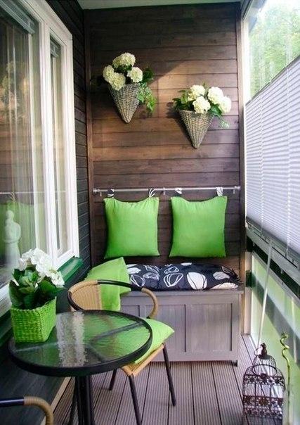 Подборка прекрасных идей для небольших балконов 4