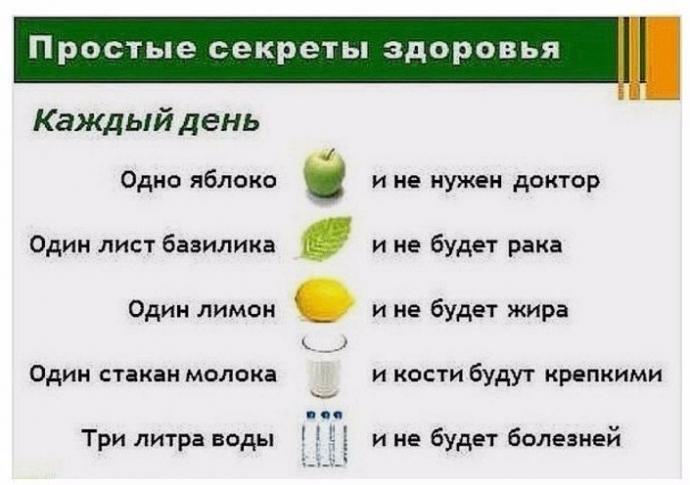 Советы для здоровья на каждый день. 0