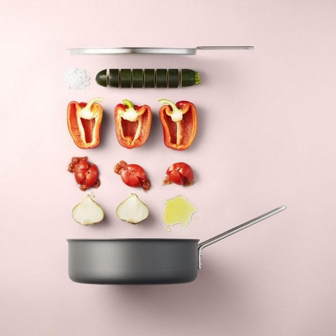 Очень лаконичный способ описать приготовление блюда придумал фотограф mikkel jul hvilshøj 2