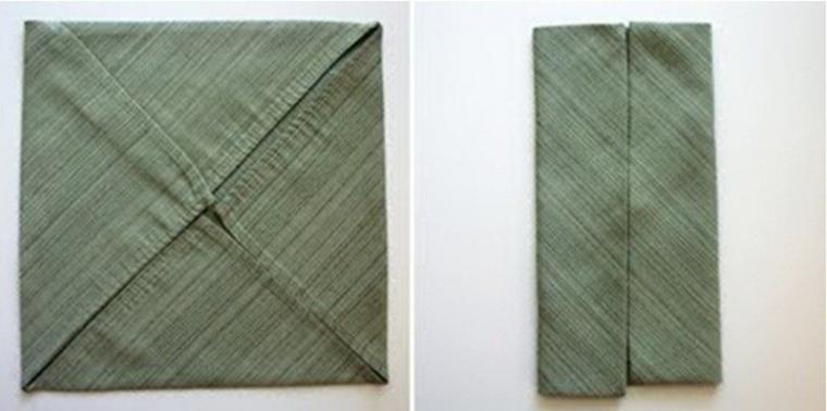Как красиво сложить салфетку в виде рубашки 2