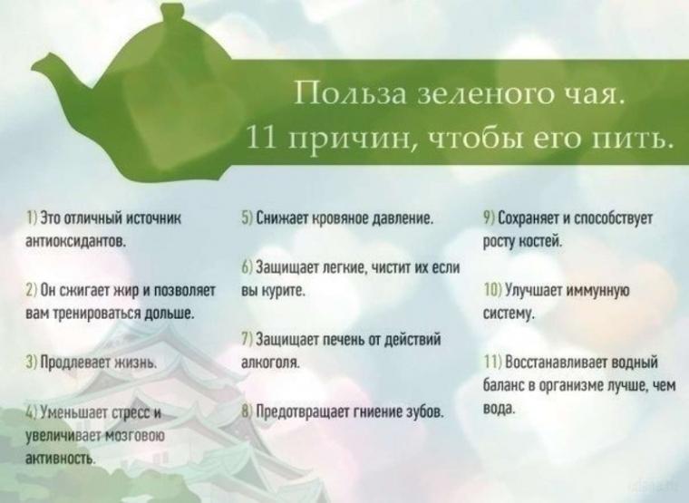 11 причин пить зеленый чай: 0